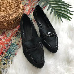 Rebecca Minkoff • Calf Hair Black Penny Loafers